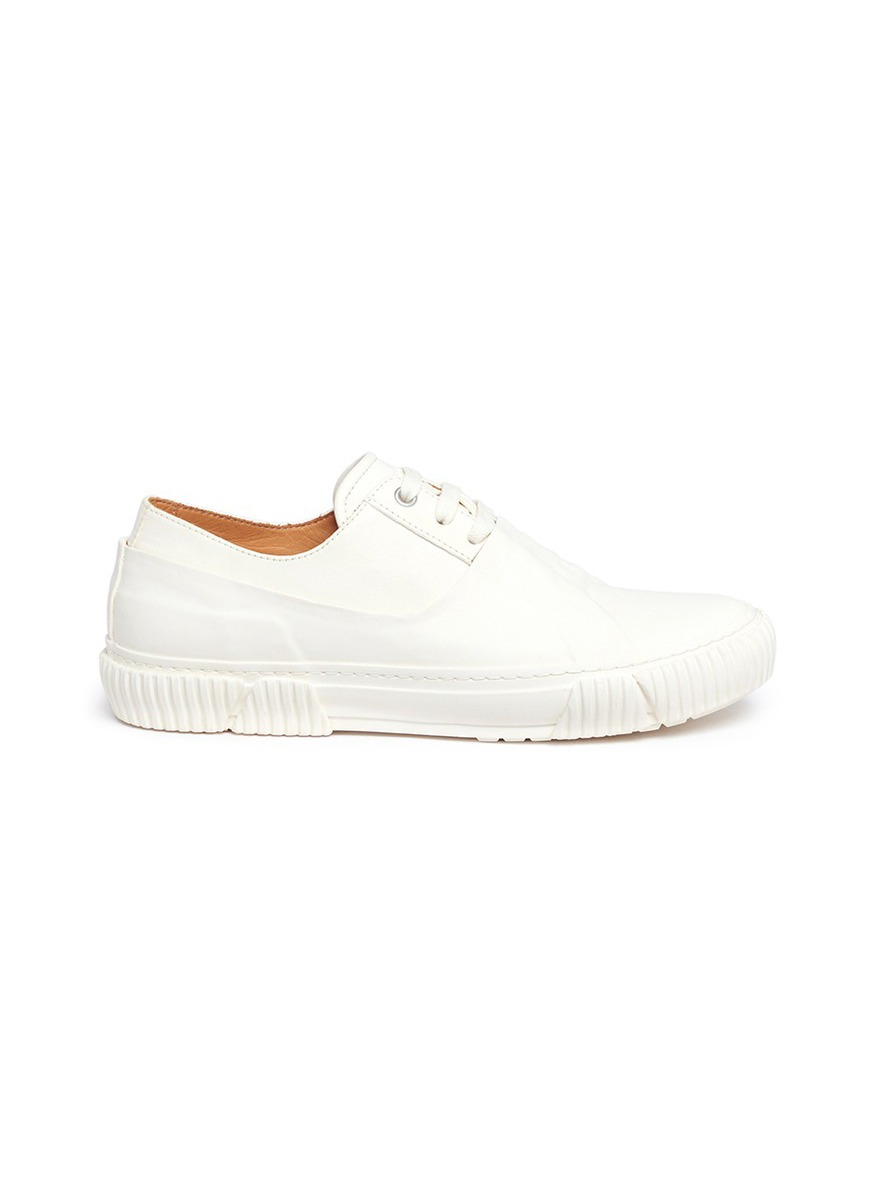 Rubber coated horse leather sneakers by both