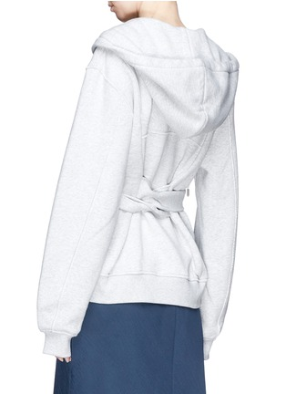 Back View - Click To Enlarge - T By Alexander Wang - Wrap hoodie