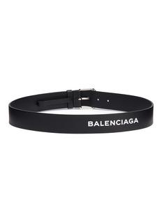 Balenciaga Logo print leather belt