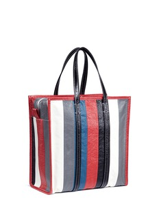 Balenciaga 'Bazar Shopper' stripe medium crinkled leather tote