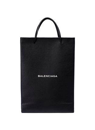 Main View - Click To Enlarge - Balenciaga - 'North-South' logo print medium leather tote bag