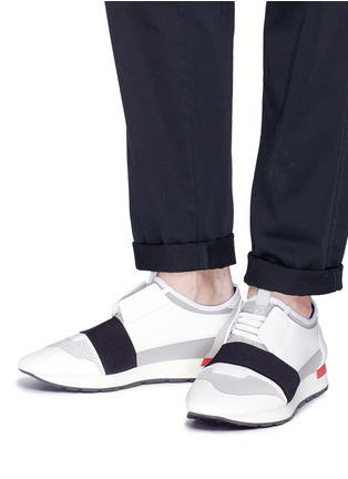 75dca71dd64d Figure View - Click To Enlarge - Balenciaga -  Race Runner  mixed panel  sneakers