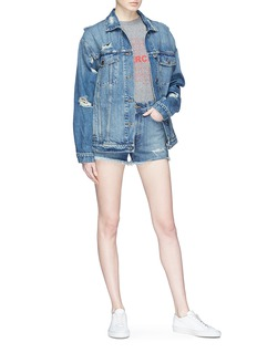 Stella McCartney Destroyed oversized denim jacket