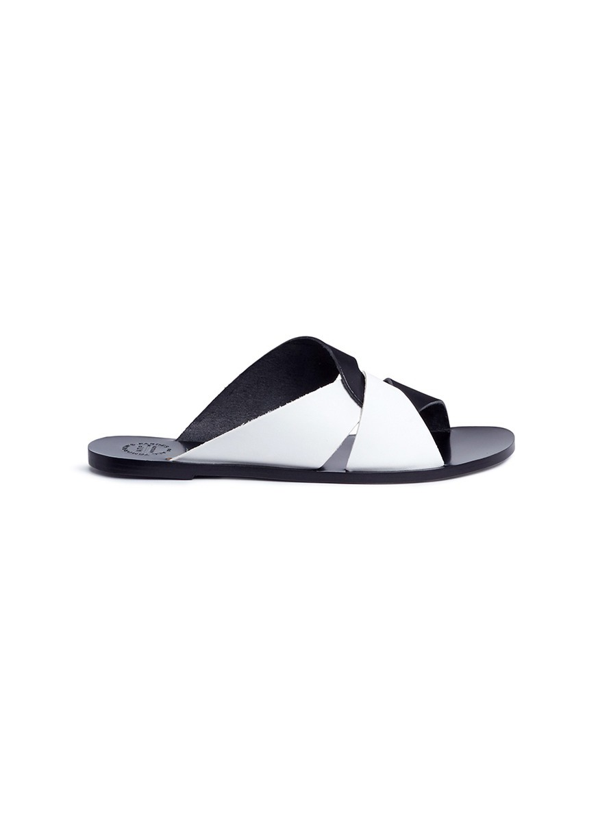Allai knot strap leather slide sandals by ATP Atelier