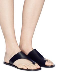ATP Atelier 'Rosa' vegetable tanned leather slide sandals