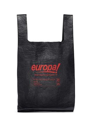 Main View - Click To Enlarge - Balenciaga - 'Supermarket Shopper' slogan print medium leather tote bag