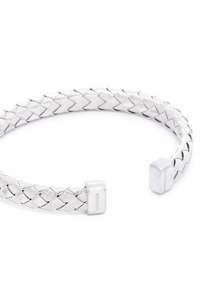 Detail View - Click To Enlarge - TATEOSSIAN - 'Bamboo' woven effect silver cuff