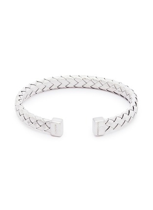 Main View - Click To Enlarge - TATEOSSIAN - 'Bamboo' woven effect silver cuff