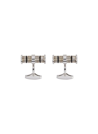 Main View - Click To Enlarge - TATEOSSIAN - 'Lucky Me' rhodium-plated silver cufflinks