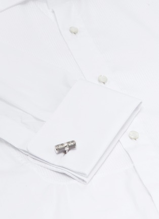 Figure View - Click To Enlarge - TATEOSSIAN - 'Lucky Me' rhodium-plated silver cufflinks
