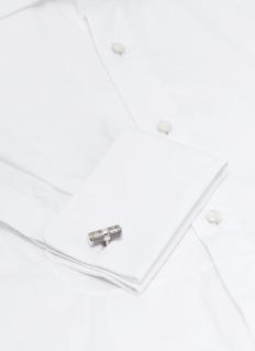 Tateossian 'Lucky Me' rhodium-plated silver cufflinks