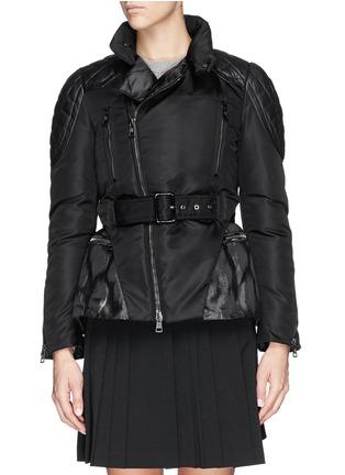 Main View - Click To Enlarge - Moncler - 'Ran' jacquard peplum layer down jacket