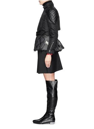 Figure View - Click To Enlarge - Moncler - 'Ran' jacquard peplum layer down jacket