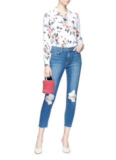 L'Agence 'Marcelle' ripped cropped skinny jeans