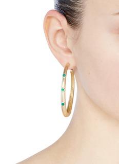 Elizabeth and James 'Georgia' agate hoop earrings