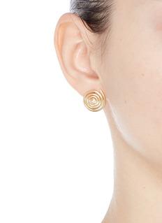 Elizabeth and James 'Della' topaz spiral stud earrings