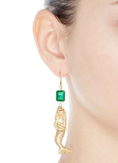 Elizabeth and James 'Mallory' agate mermaid drop earrings