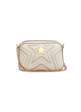 Main View - Click To Enlarge - Stella McCartney - 'Stella Star' quilted faux leather crossbody bag