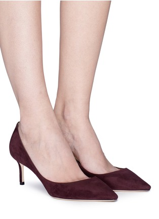 Figure View - Click To Enlarge - Jimmy Choo - 'Romy 60' suede pumps