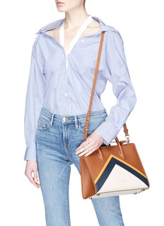 Strathberry 'The Strathberry Midi' colourblock leather tote