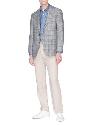Figure View - Click To Enlarge - Altea - Linen-cotton shirt
