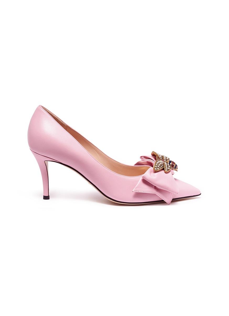 9187d1bee975 Gucci.  Margaret  embellished leather pumps