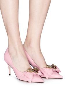 Gucci 'Margaret' embellished leather pumps