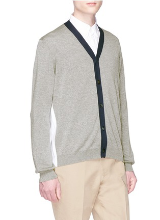 Front View - Click To Enlarge - TOMORROWLAND - Colourblock cardigan