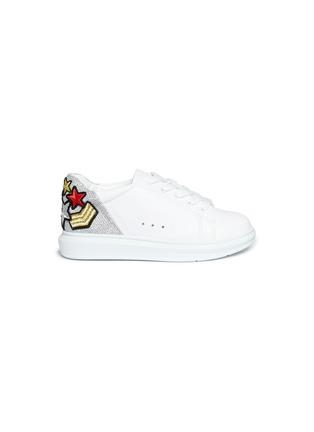 964787ddee03b WiNK  Popcorn  military patch colourblocked kids sneakers