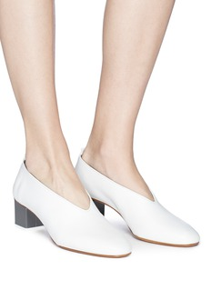 Gray Matters 'Mildred' geometric heel choked-up leather pumps