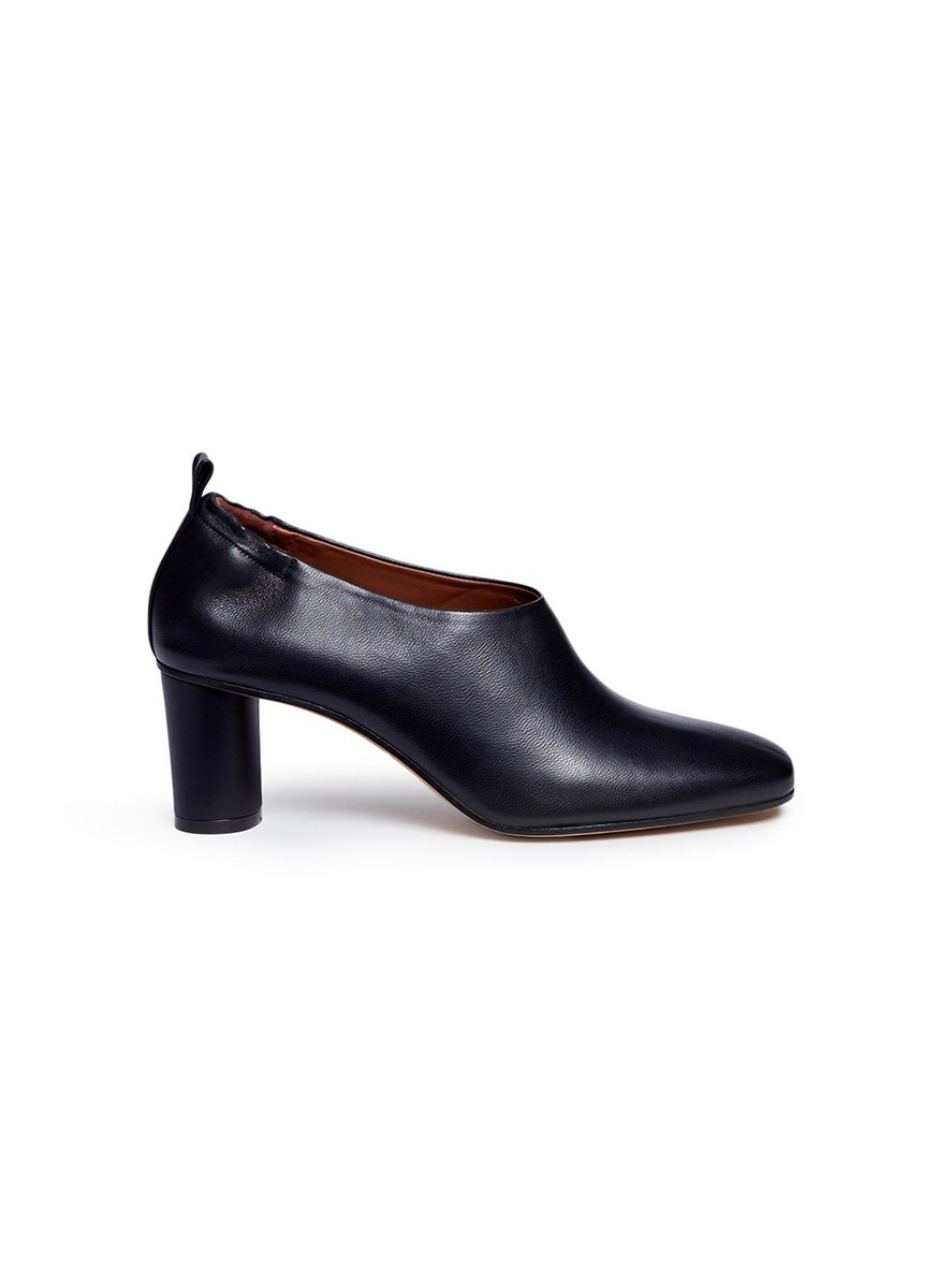 Micol choked-up nappa leather pumps by Gray Matters