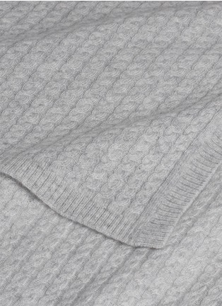 Detail View - Click To Enlarge - LANE CRAWFORD - Cashmere throw –Grey