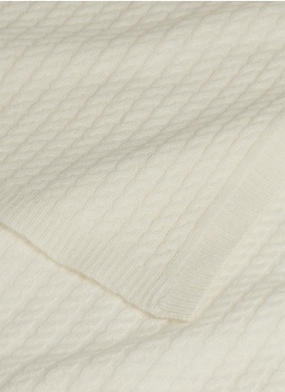 Detail View - Click To Enlarge - LANE CRAWFORD - Cashmere throw – Off-White