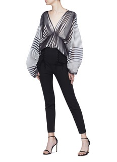 Tome Stripe pleated georgette blouse