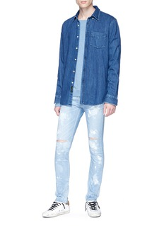 NOVE Paint spot ripped skinny jeans