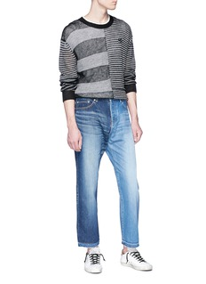 NOVE Colourblock cropped jeans