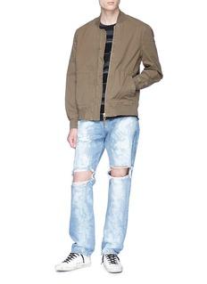 NOVE Paint spot ripped jeans