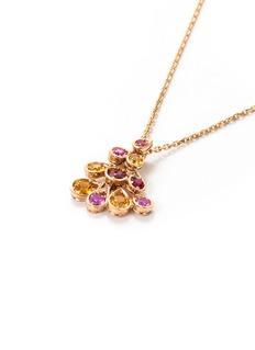 Mellerio 'Indra' spessartite spinel sapphire 18k rose gold pendant necklace