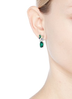 Anabela Chan 'Lily' gemstone 18k white gold vermeil drop earrings