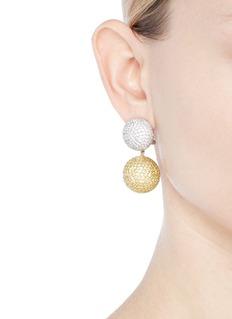 Anabela Chan 'Bauble' diamond sapphire detachable drop earrings