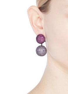 Anabela Chan 'Bauble' ruby amethyst detachable drop earrings