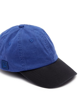 Detail View - Click To Enlarge - Acne Studios - 'Carliy Face' emoticon patch colourblock baseball cap