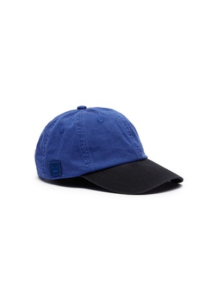 Main View - Click To Enlarge - Acne Studios - 'Carliy Face' emoticon patch colourblock baseball cap