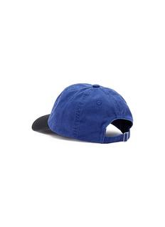 Acne Studios 'Carliy Face' emoticon patch colourblock baseball cap