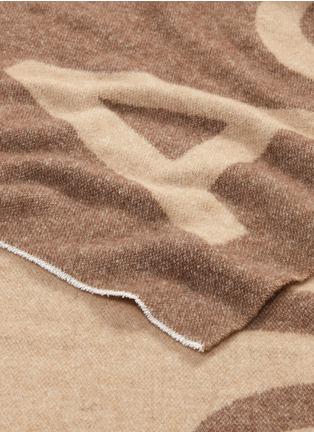 Detail View - Click To Enlarge - Acne Studios - 'Toronty' logo jacquard wool blend scarf