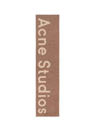Main View - Click To Enlarge - Acne Studios - 'Toronty' logo jacquard wool blend scarf