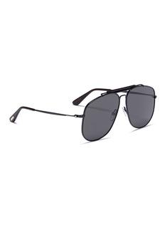 TOM FORD 'Connor' acetate brow bar metal aviator sunglasses