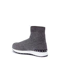 WiNK 'Liquorice' mid top glitter Lurex knit kids sneakers