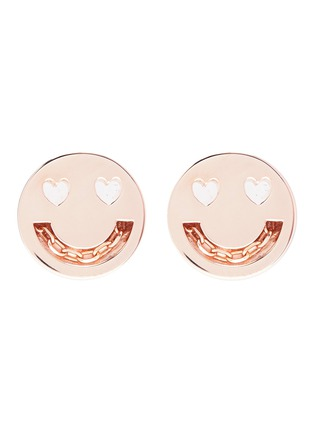 Main View - Click To Enlarge - Ruifier - 'Smitten' 18k rose gold vermeil stud earrings