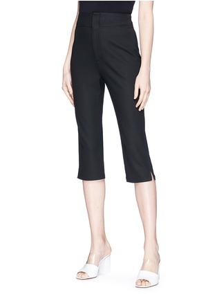 Front View - Click To Enlarge - 74060 - 'Le Corsaire' high waist cropped suiting pants